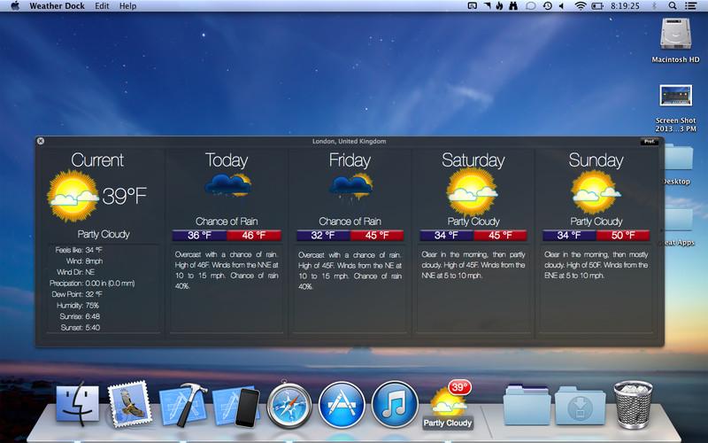 Weather Dock screenshot