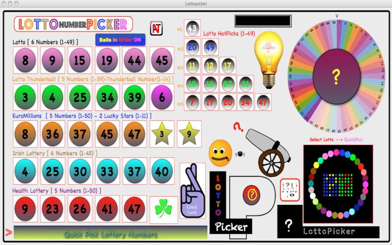 Lottopicker screenshot