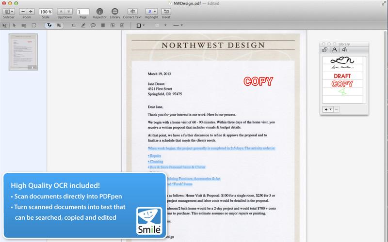 PDFpen 6 screenshot