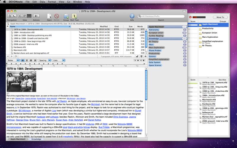 DEVONnote screenshot