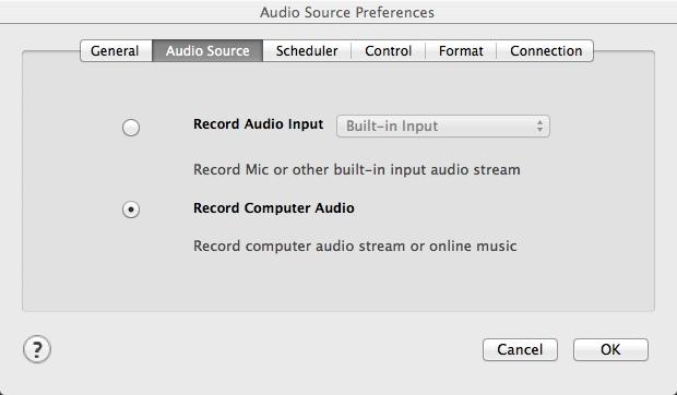 Selecting Audio Source