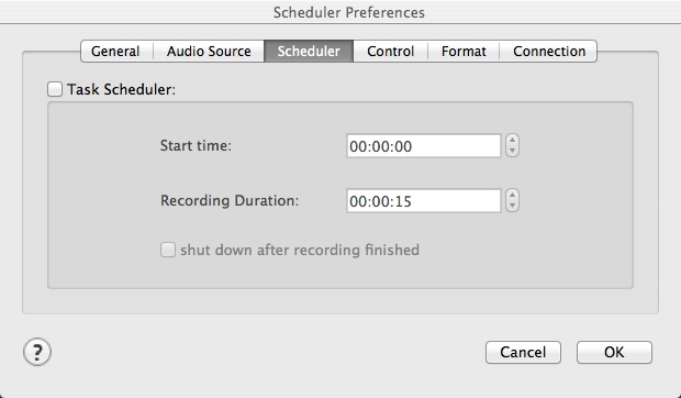 Scheduling Recording