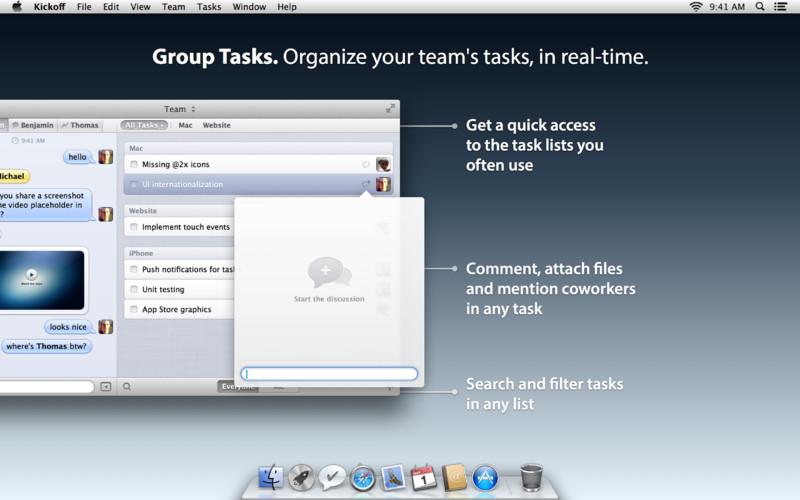 Kickoff - Chat and Tasks for Teams screenshot