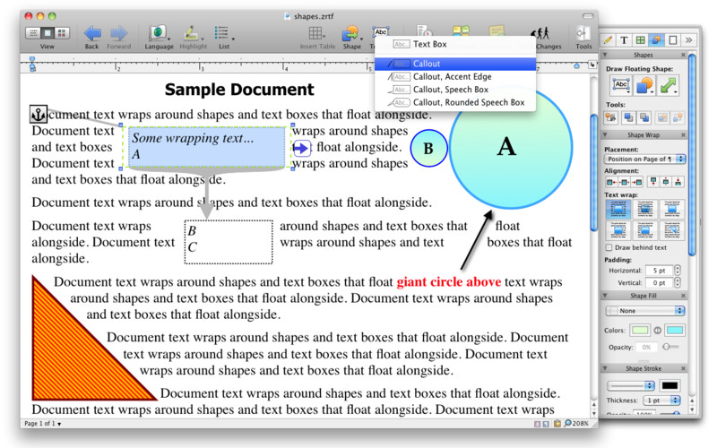 Nisus Writer Pro screenshot