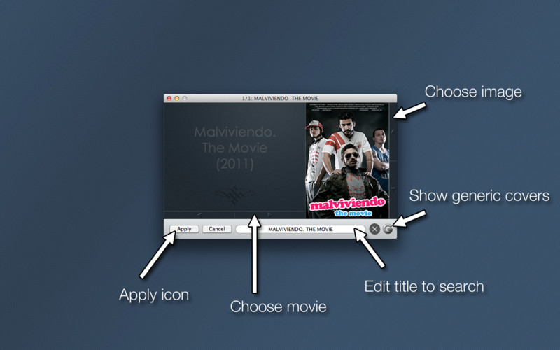 MovieIcon - Adds cover art to your movie files screenshot