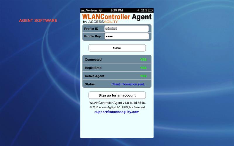 WLANController Agent screenshot