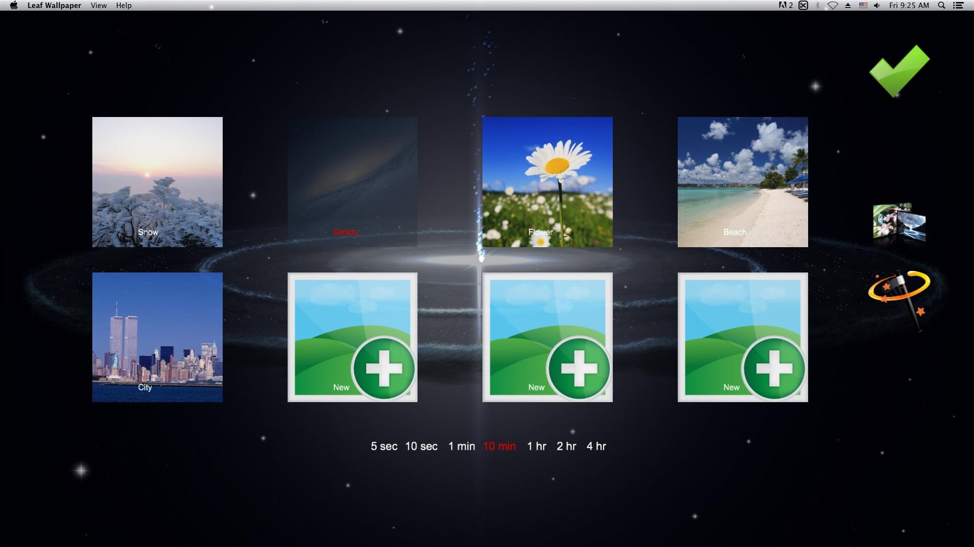 Selecting Desktop Theme