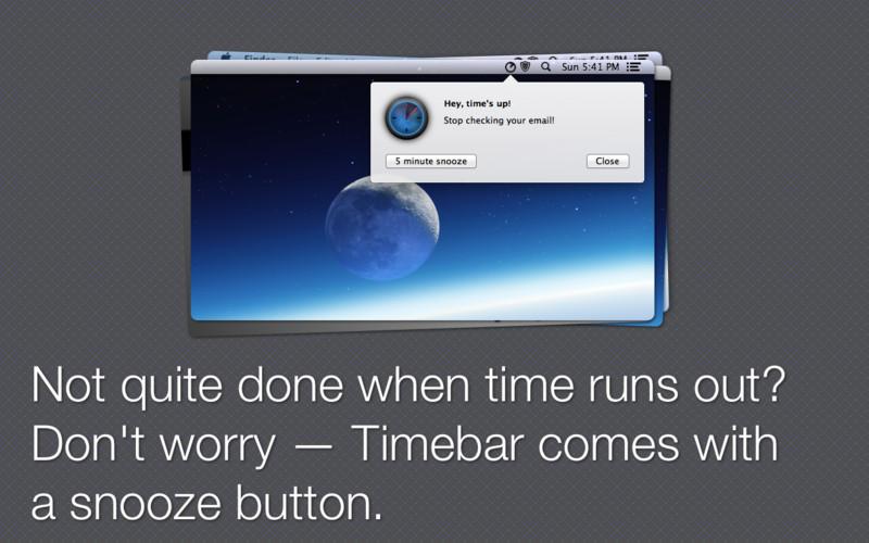 Timebar screenshot
