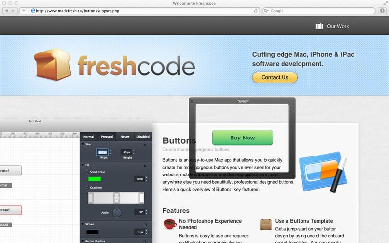 Buttons screenshot