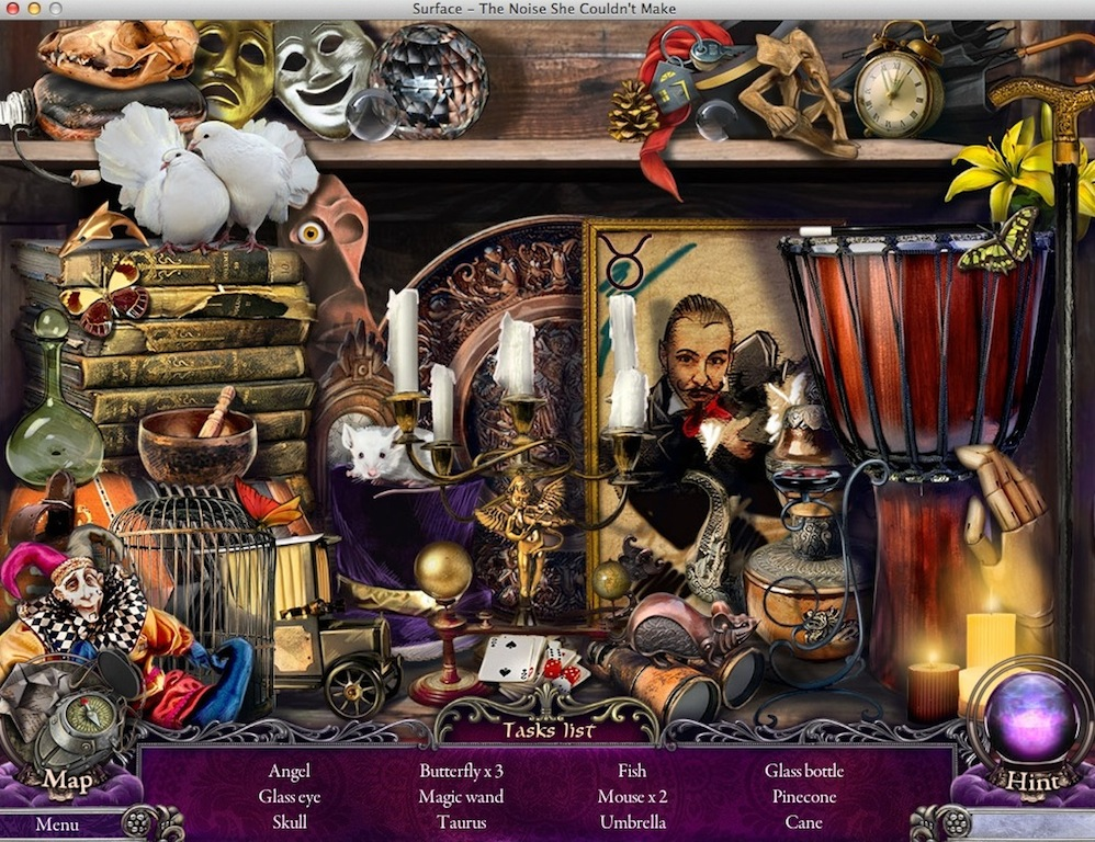 Completing Hidden Object Mini-Game