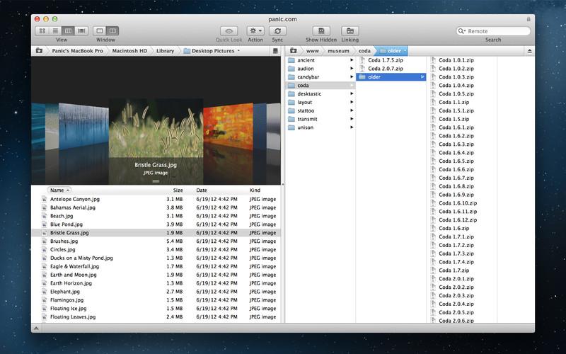 Transmit screenshot