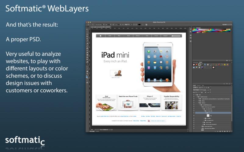 Softmatic WebLayers screenshot