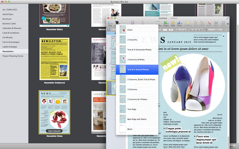 Business Mix Set screenshot