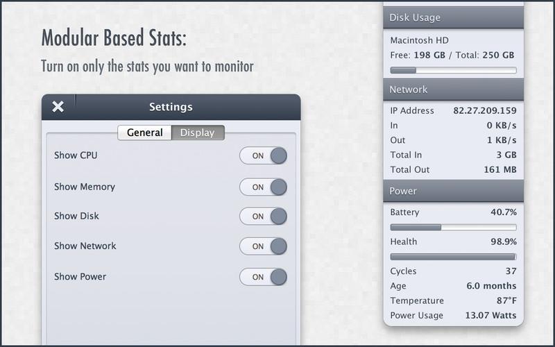 StatsBar - System Monitor screenshot
