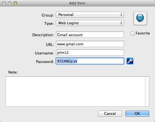 Adding Web Login Info