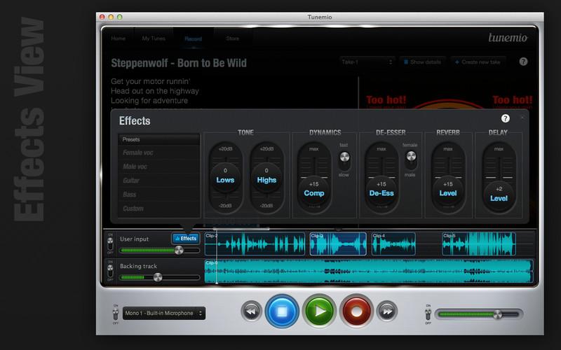 Tunemio screenshot