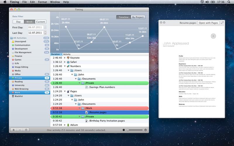 Free Time Tracker - Timing lite screenshot