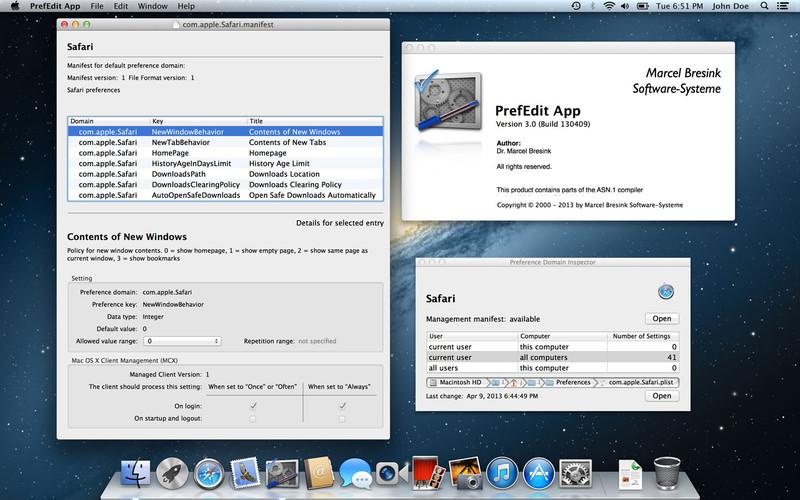 PrefEdit App screenshot