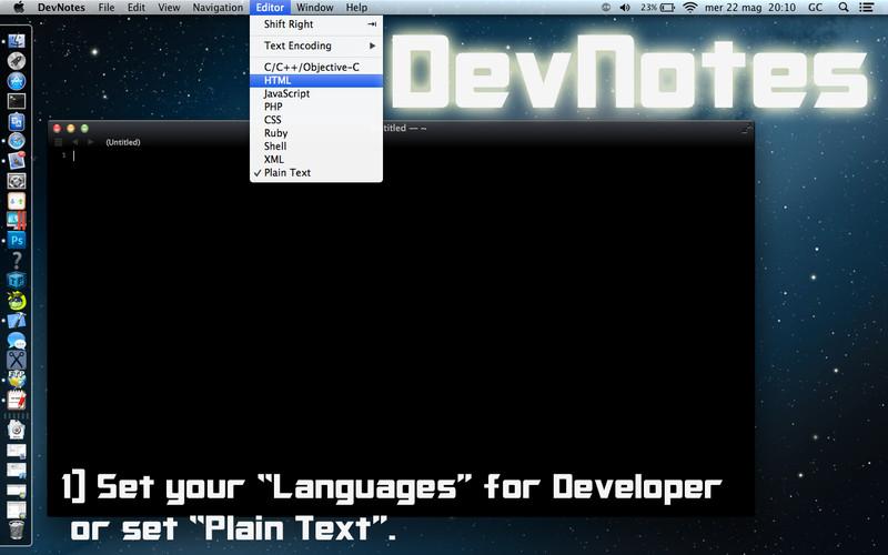 DevNotes screenshot