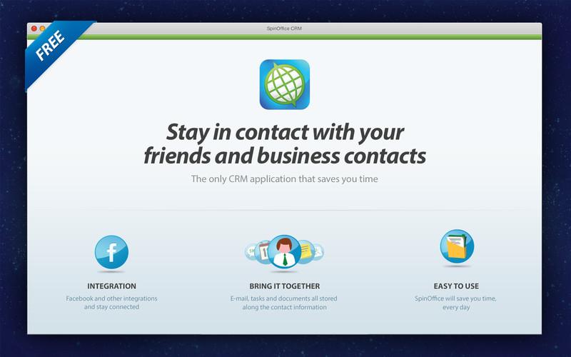 SpinOffice CRM screenshot
