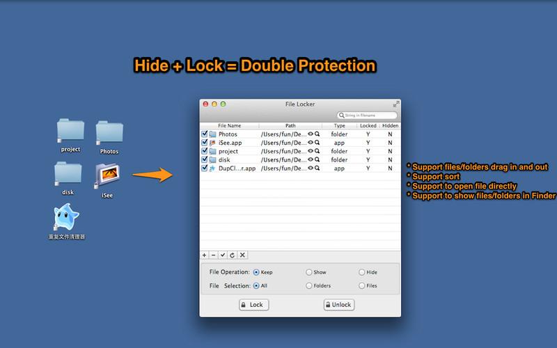 File Locker - Hide&Lock Files screenshot