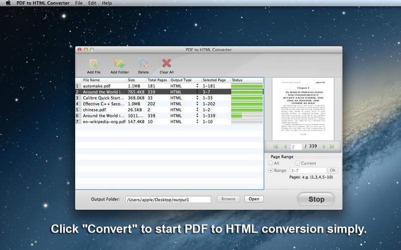 PDF to HTML Converter screenshot