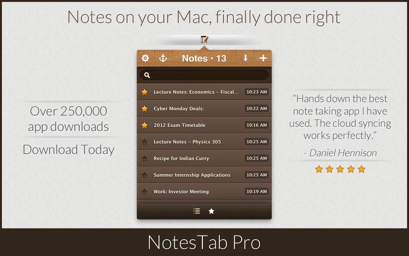 NotesTab Pro screenshot