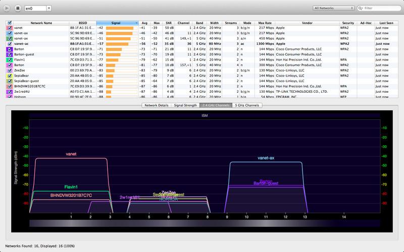 WiFi Explorer screenshot