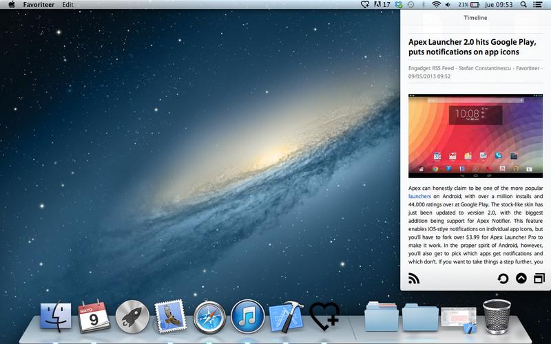 Favoriteer screenshot