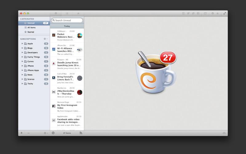 Caffeinated screenshot