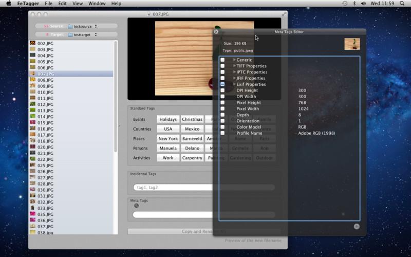 EeTagger screenshot