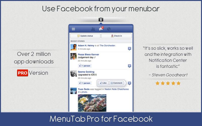 MenuTab Pro for Facebook screenshot
