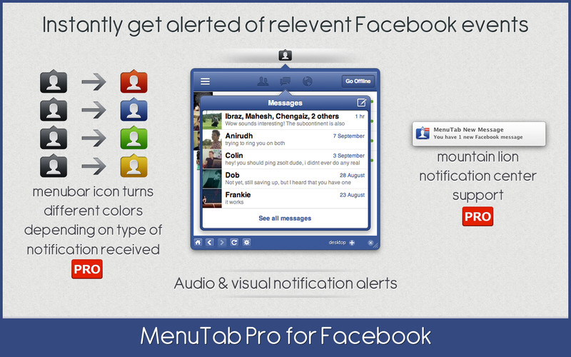 MenuTab Pro for Facebook screenshot
