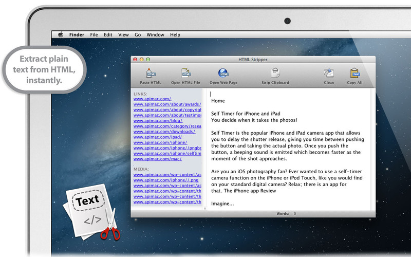 HTML Stripper screenshot