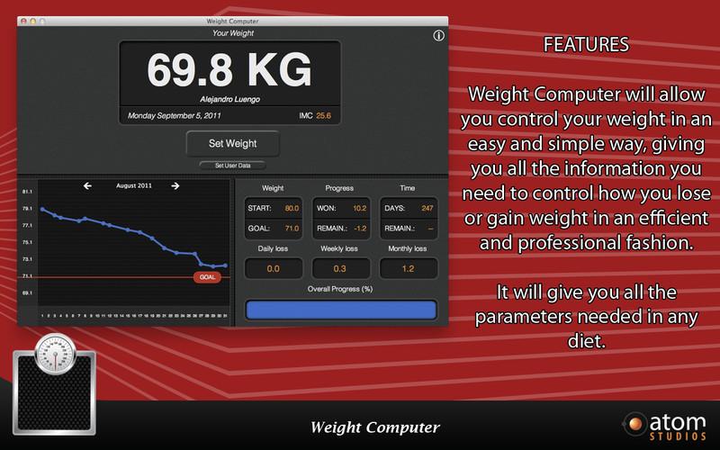 Weight Computer screenshot