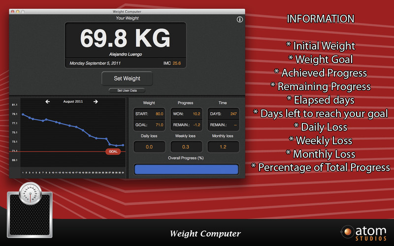 Weight Computer screenshot
