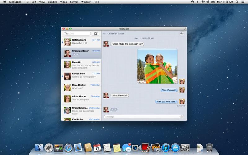OS X Mountain Lion screenshot