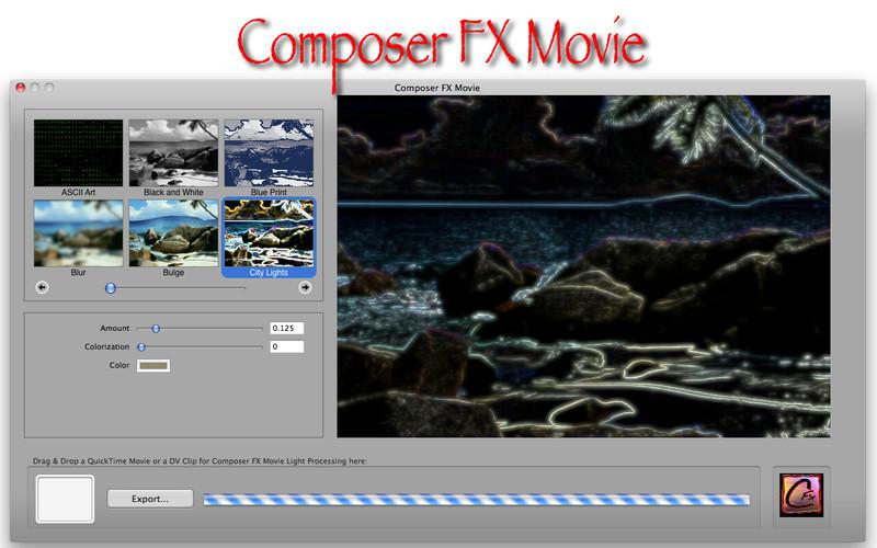 Composer FX Movie screenshot