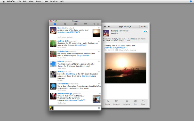Echofon Lite for Twitter screenshot
