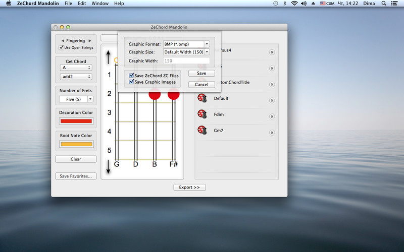 ZeChord Mandolin screenshot