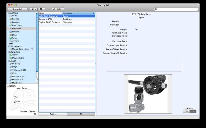 Dive Log DT screenshot
