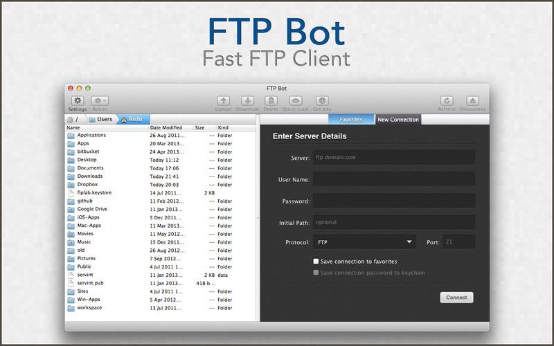FTP Bot - Fast FTP Client screenshot