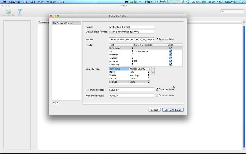 LogDiver screenshot