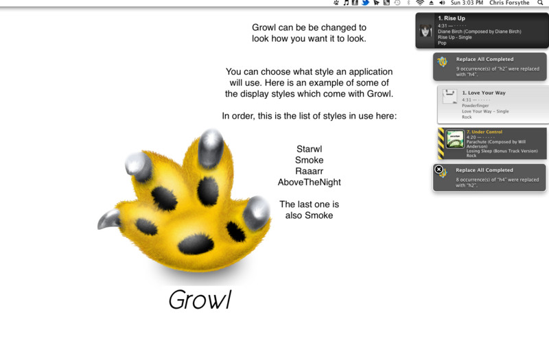 Growl screenshot