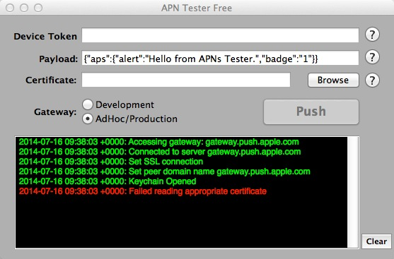 Download free APN Tester for macOS