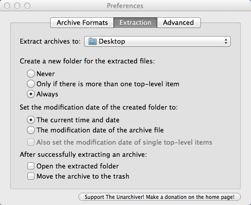 Configuring File Extraction Settings