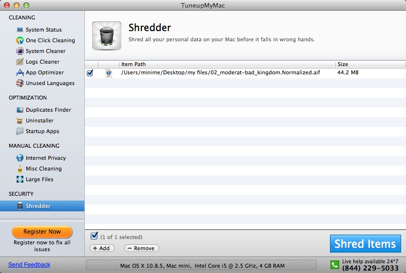 Shredder Window