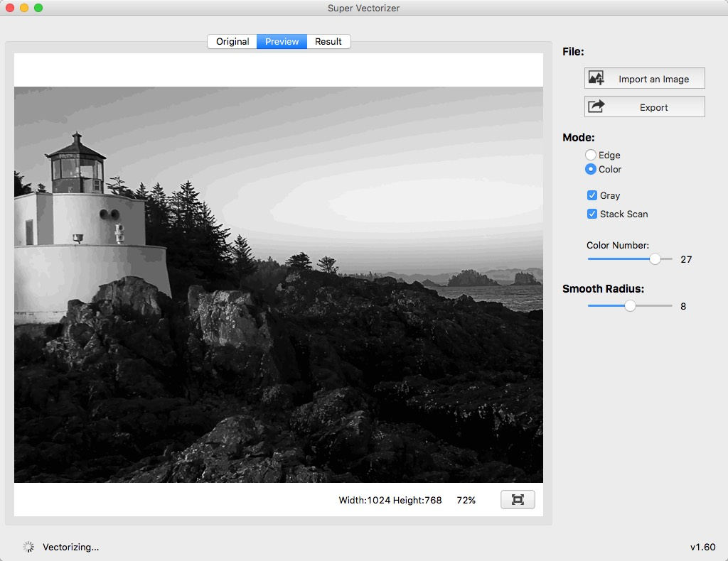 Super Vectorizer for Mac, Convert raster bitmap images to vector graphics  on your Mac