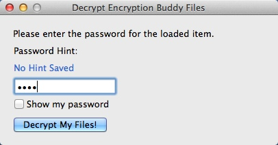 Entering Access Password For Decryption