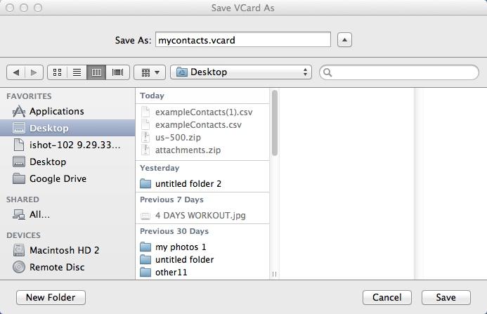Selecting Output File Destination Folder